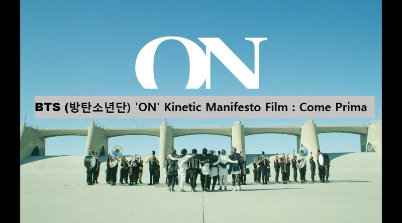 BTS kinetic manifesto on lyrics in english
