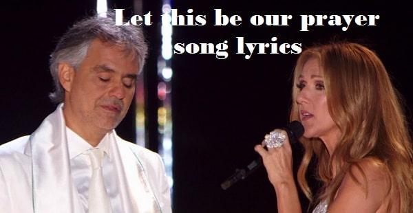 Let this be our prayer song lyrics