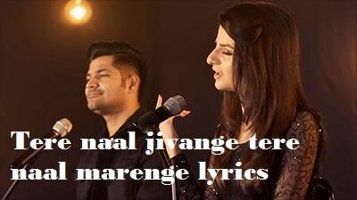 tere naal jivange tere naal marenge lyrics