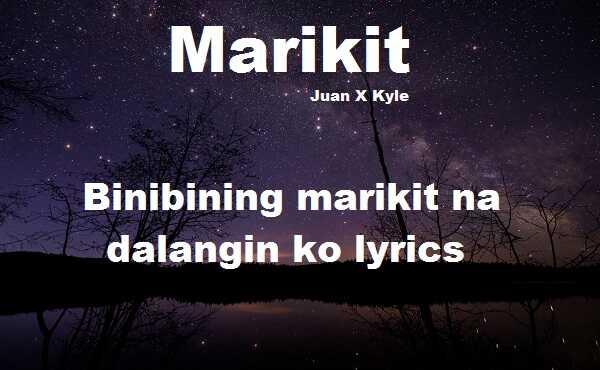Binibining marikit na dalangin ko lyrics