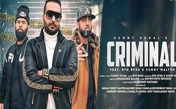 Criminal Lyrics Sunny Sohal