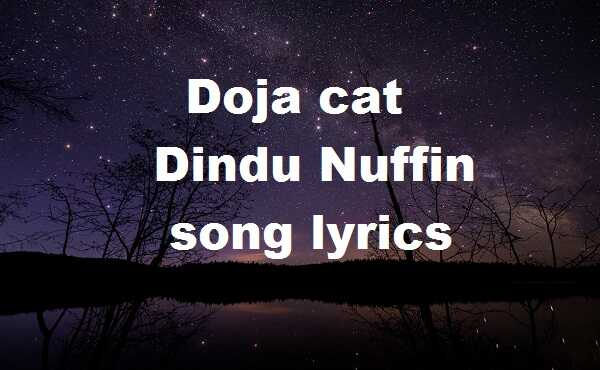Doja cat dindu nuffin song lyrics