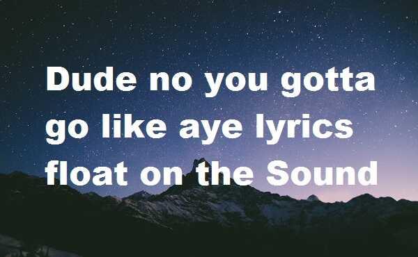 Dude no you gotta go like aye lyrics