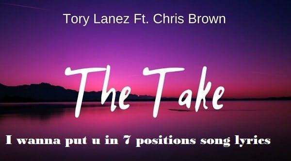 I wanna put u in 7 positions song lyrics