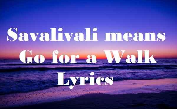 Savalivali means Go for a Walk Lyrics