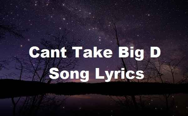 Cant Take Big D Song Lyrics