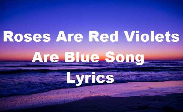 Roses Are Red Violets Are Blue Song Lyrics