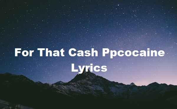 For That Cash Ppcocaine Lyrics