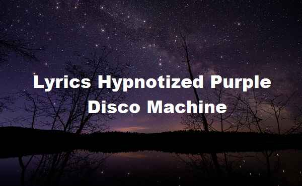 Lyrics Hypnotized Purple Disco Machine
