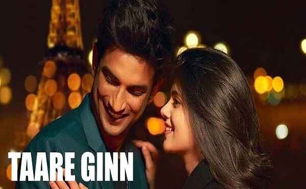 Taare Ginn Lyrics Dil Bechara