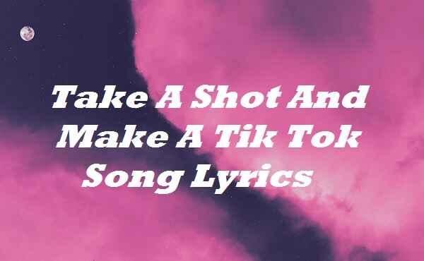 Take A Shot And Make A Tik Tok Song Lyrics
