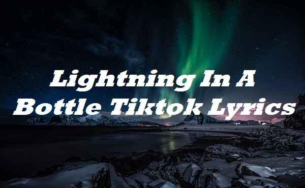 Lightning In A Bottle Tiktok Lyrics