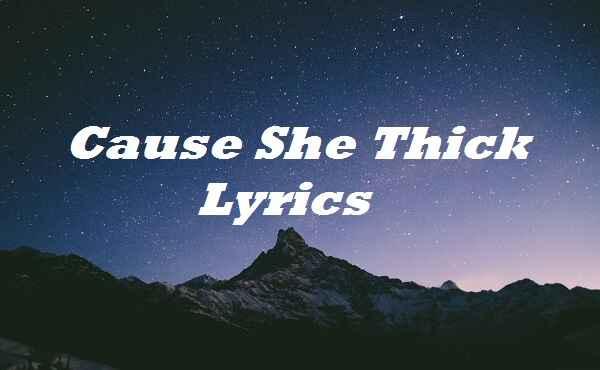 Cause She Thick Lyrics