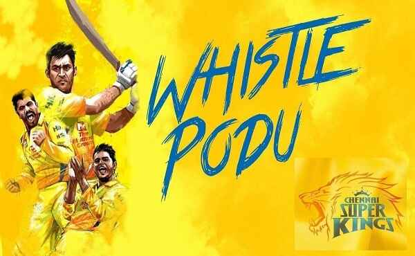 Chennai Super Kings Ku Periya Whistle Adinga Song Lyrics
