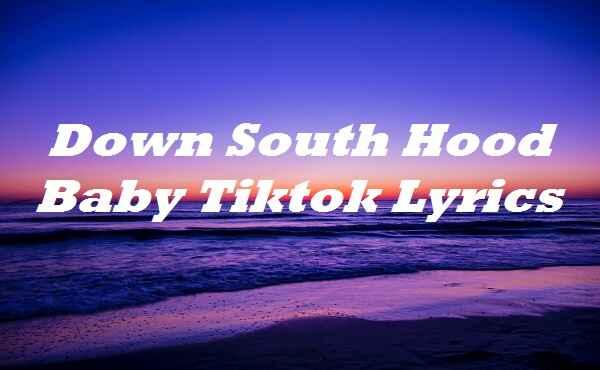 Down South Hood Baby Tiktok Lyrics