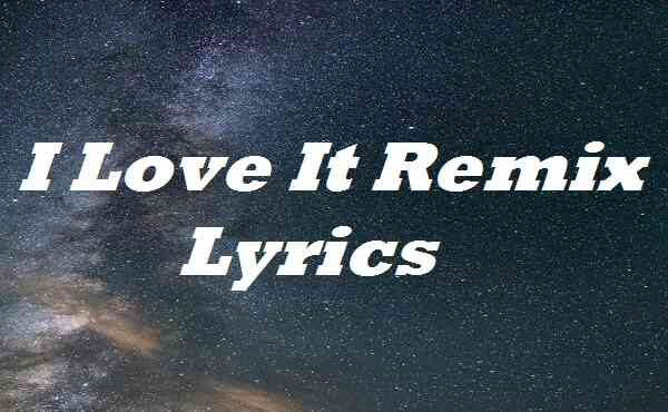 I Love It Remix Lyrics