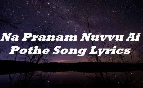 Na Pranam Nuvvu Ai Pothe Song Lyrics