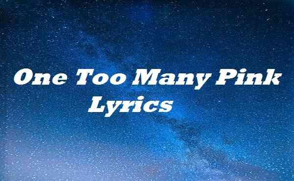 One Too Many Pink Lyrics