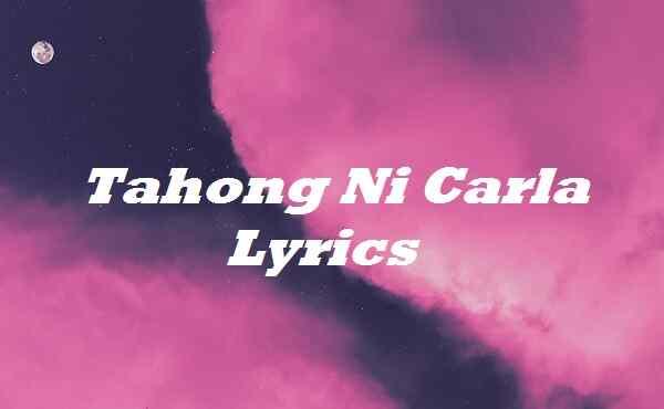 Tahong Ni Carla Lyrics