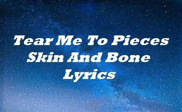Tear Me To Pieces Skin And Bone Lyrics