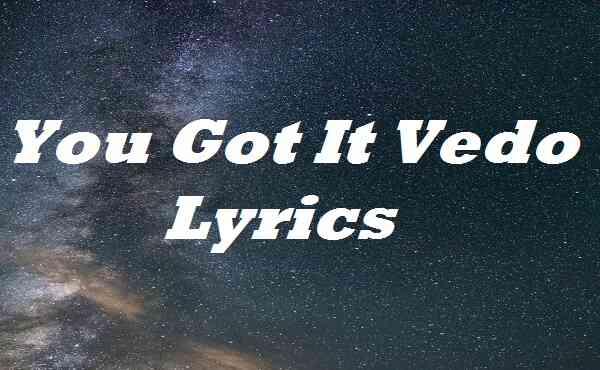 You Got It Vedo Lyrics