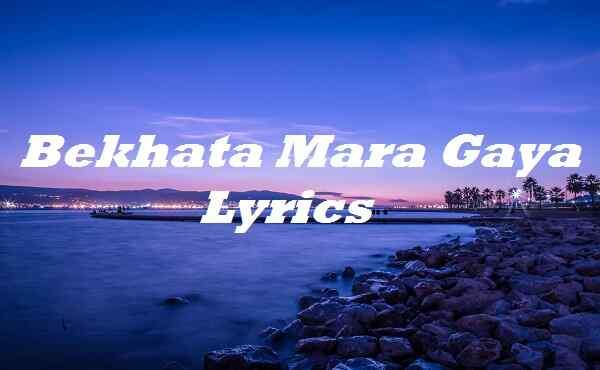 Bekhata Mara Gaya Lyrics
