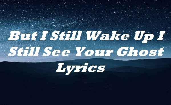 But I Still Wake Up I Still See Your Ghost Lyrics