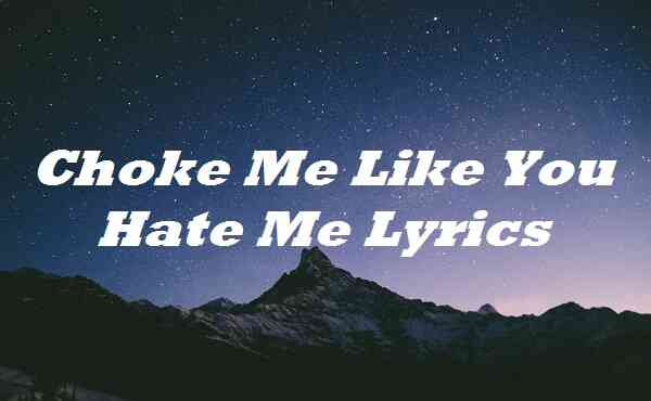 Choke Me Like You Hate Me Lyrics