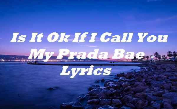Is It Ok If I Call You My Prada Bae Lyrics