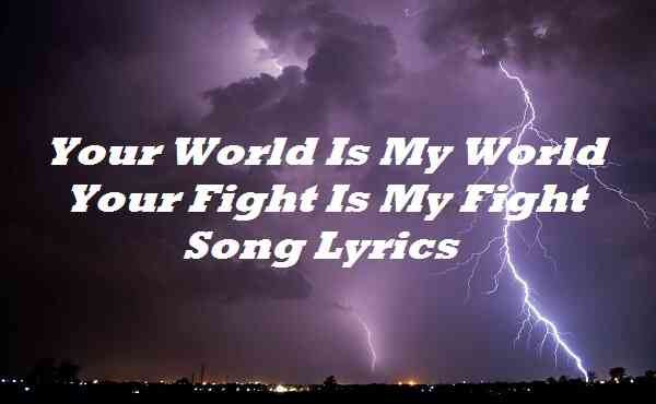 Your World Is My World Your Fight Is My Fight Song Lyrics