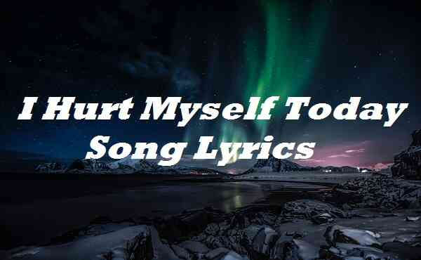 I Hurt Myself Today Song Lyrics
