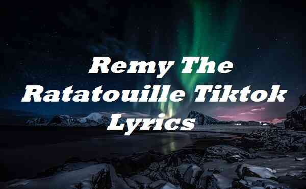 Remy The Ratatouille Tiktok Lyrics