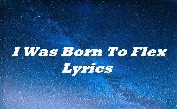 I Was Born To Flex Lyrics