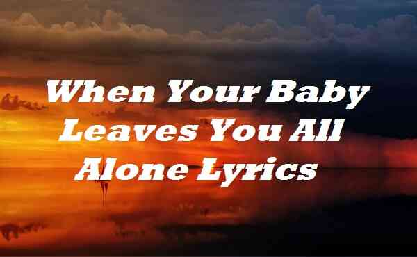 When Your Baby Leaves You All Alone Lyrics