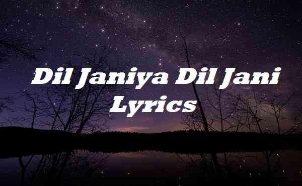 Dil Janiya Dil Jani Lyrics