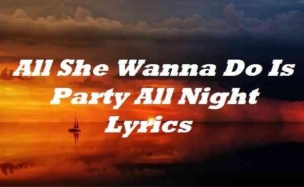 All She Wanna Do Is Party All Night Lyrics