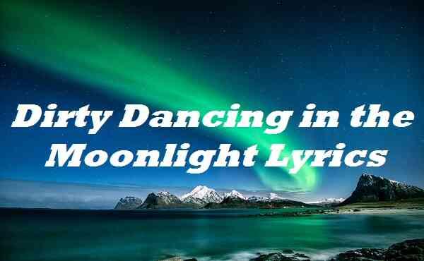 Dirty Dancing in the Moonlight Lyrics