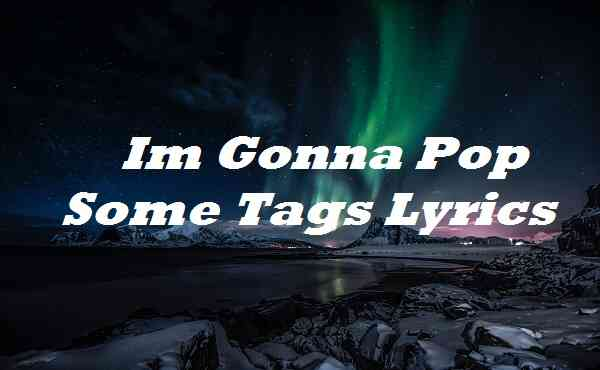 Im Gonna Pop Some Tags Lyrics