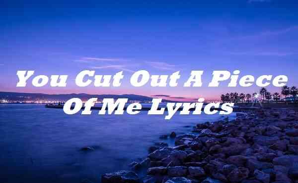 You Cut Out a Piece of Me Lyrics