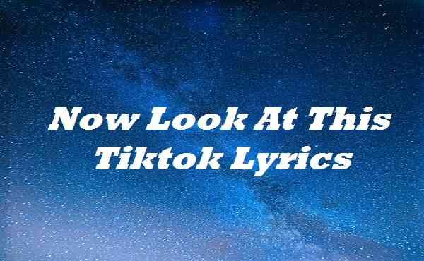 Now Look At This Tiktok Lyrics