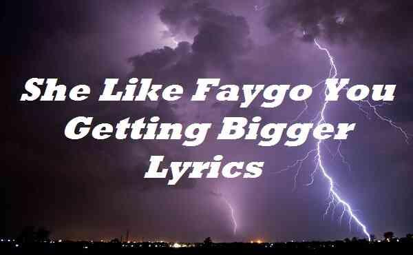 She Like Faygo You Getting Bigger Lyrics