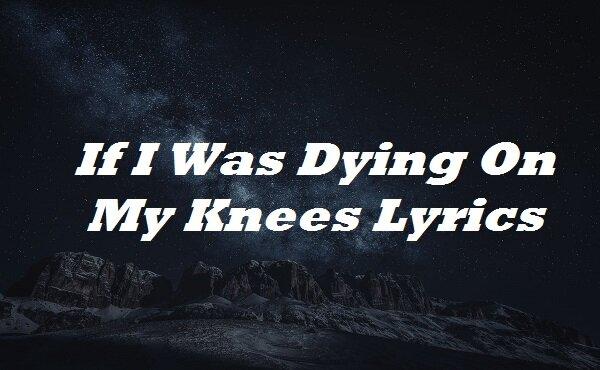 If I Was Dying On My Knees Lyrics