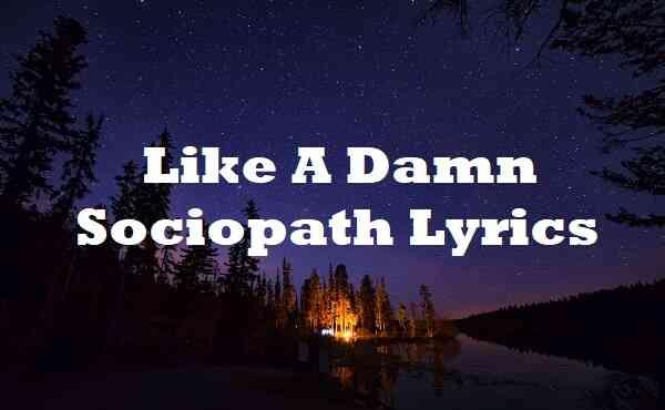 Like A Damn Sociopath Lyrics