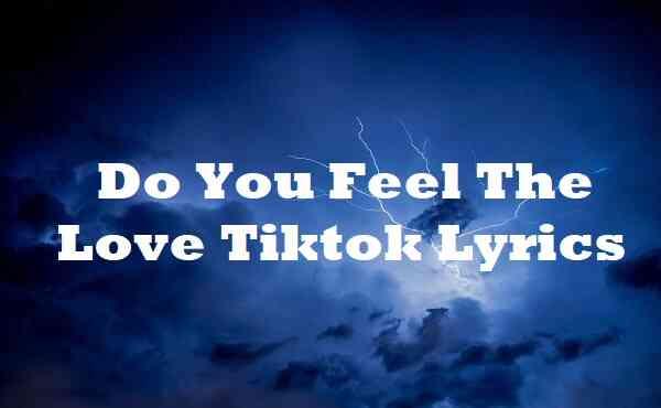 Do You Feel The Love Tiktok Lyrics