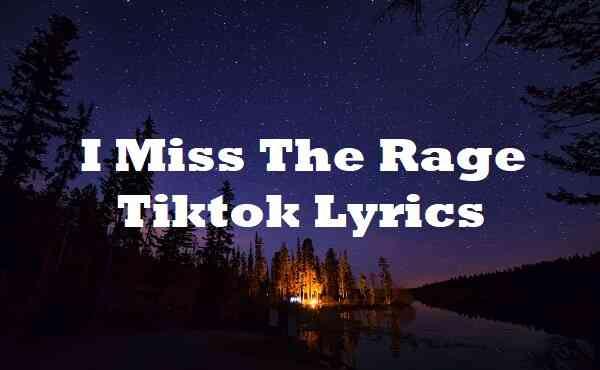 I Miss The Rage Tiktok Lyrics