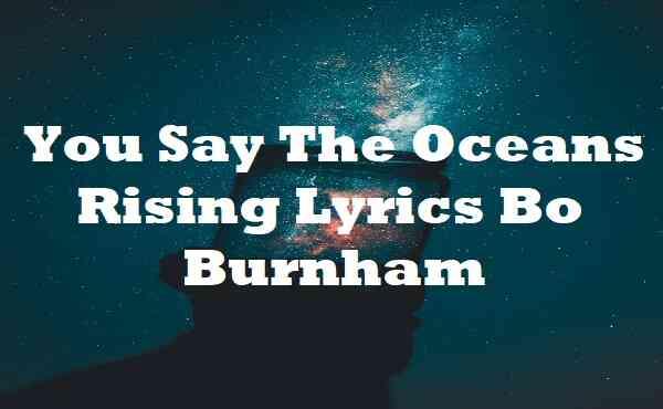 You Say The Oceans Rising Lyrics Bo Burnham